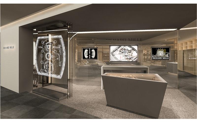 リシャール・ミルの腕時計などを展示