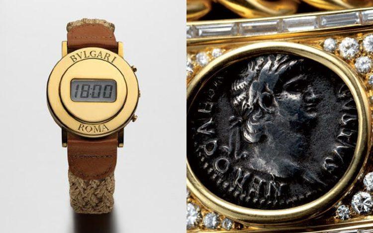 1975年BVLGARI ROMAを刻印した液晶腕時計