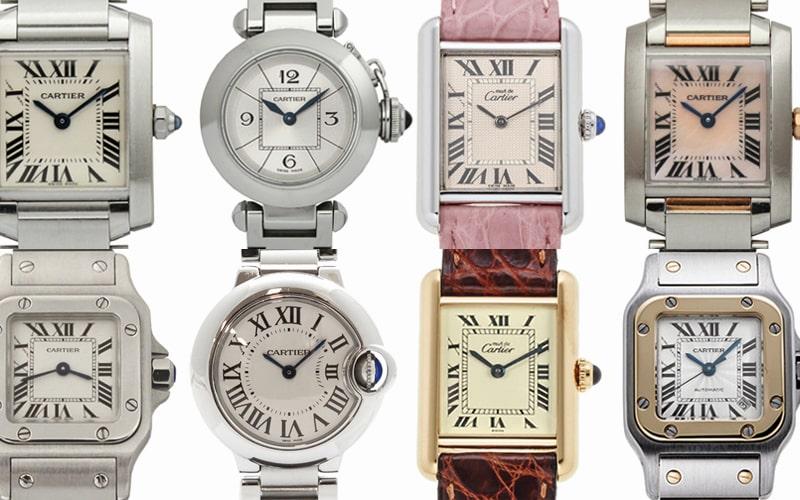 カルティエのレディース時計買取