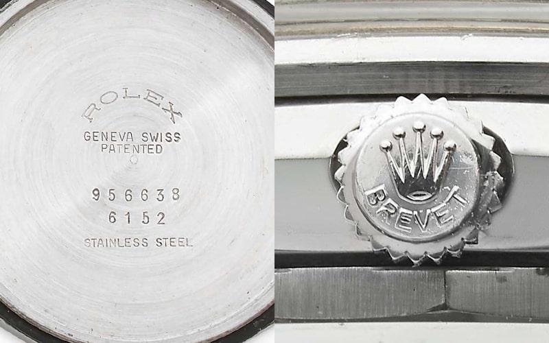 ロレックスの特許表示brevet