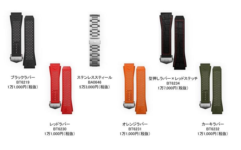 付け替え可能なブレスレットは全6種類