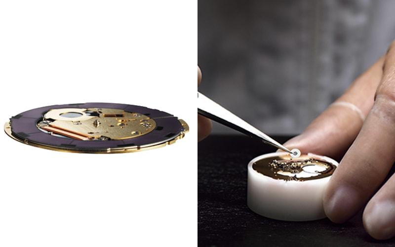 世界最薄1.00mm(設計値)のムーブメン