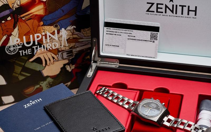 ゼニスの限定ピースが、約2,000万円で落札。世界に1本、次元 大介の腕時計